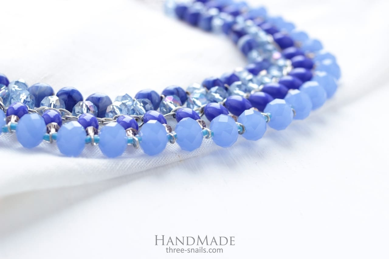 Blue Beads Necklace Fashion - Vasylchenko1