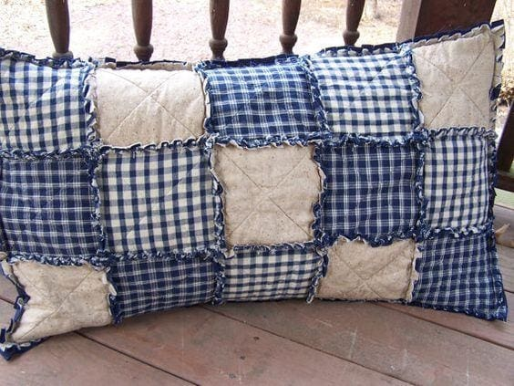 Blue Patchwork Pillowcase - Pillow Cover