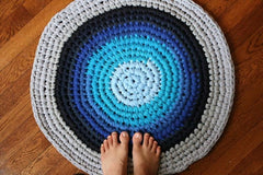 round bathroom rug