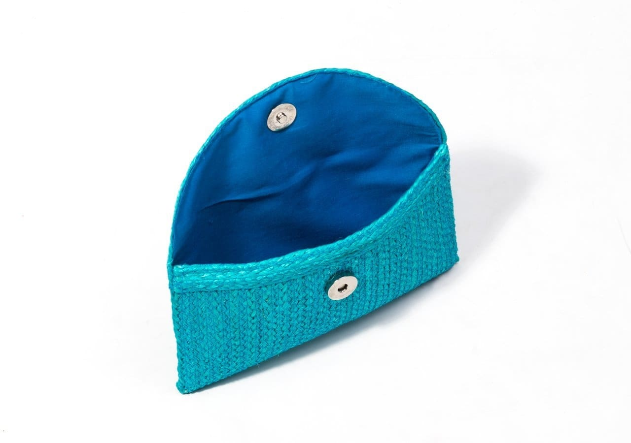Blue Sisal Mini Clutch Bag - Bag