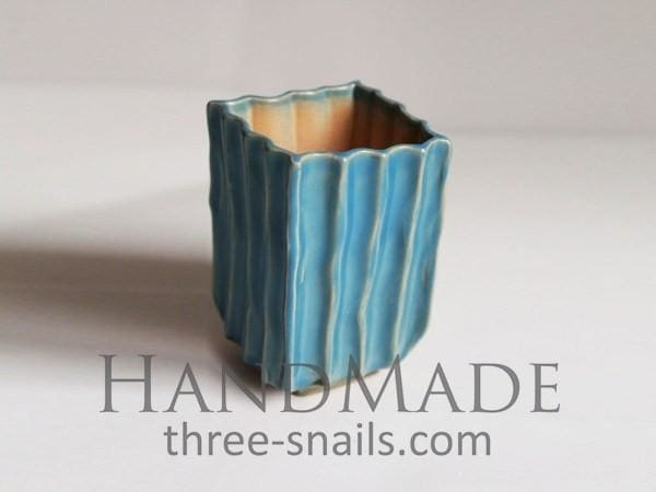 Blue Texture Pot For Cactus Blue Caramel - Plant Pot