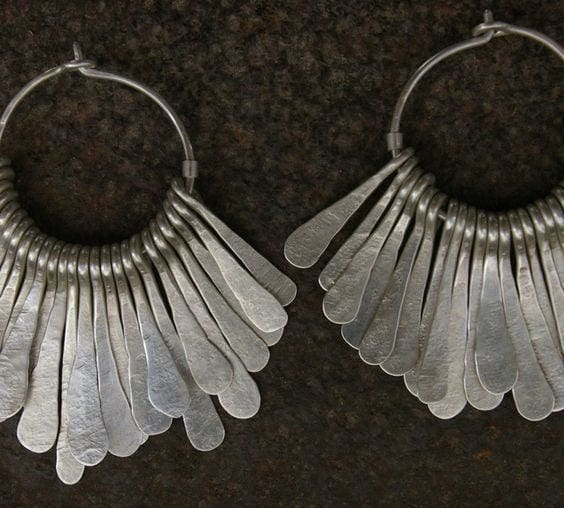 Bohemian Silver Earrings - Earrings