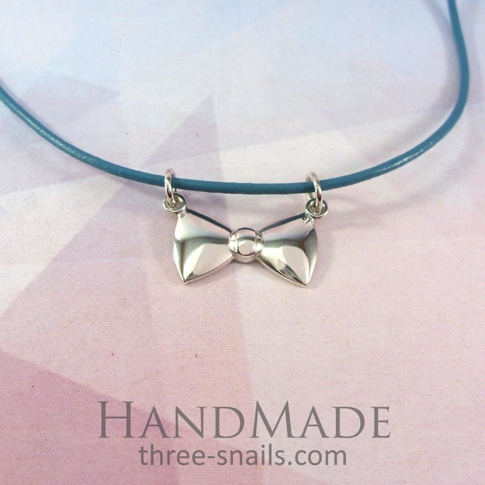"Bow tie necklace ""Butterfly"" - 1"
