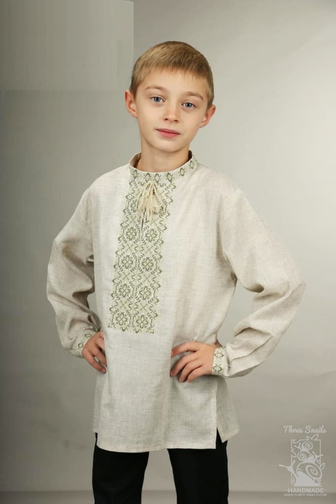 Boys White Linen Shirt Cream - Baby Clothes