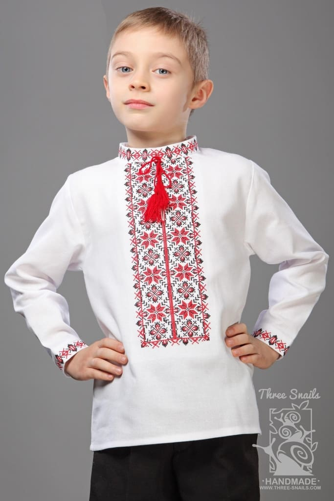 Boys White Shirt Colorful Bluming - Baby Clothes