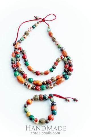Bracelet And Necklace Set Colorful Jam  - Melnichenko1