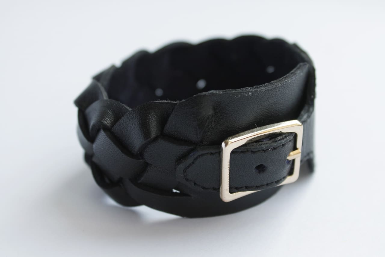 "Bracelet leather ""Weave"" - 1"