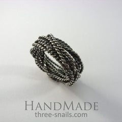 Braided Ring Several Wires - Melnichenko1