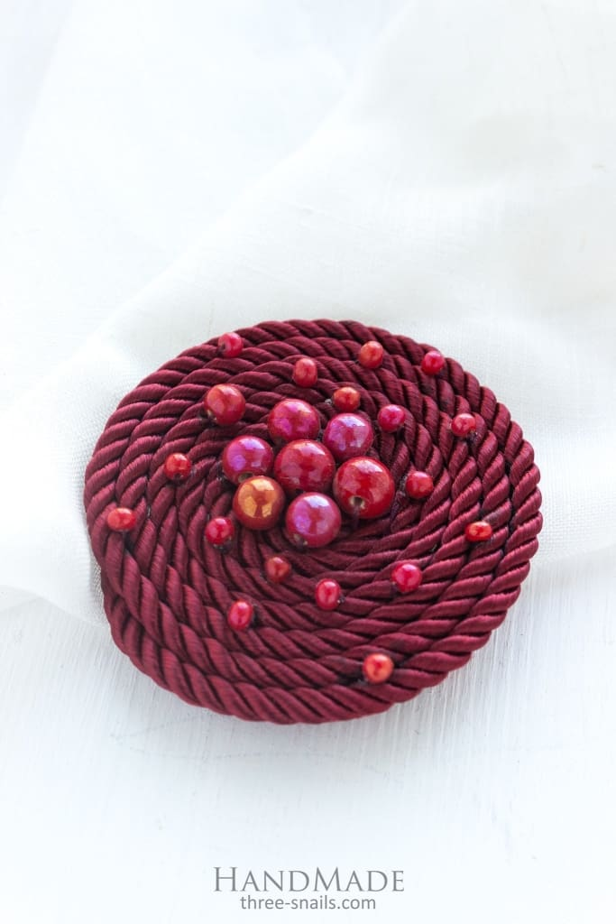 Brooch Or A Hair Clip Berry Whirpool - Vasylchenko1