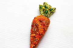 Brooch Orange Carrot - Vasylchenko1