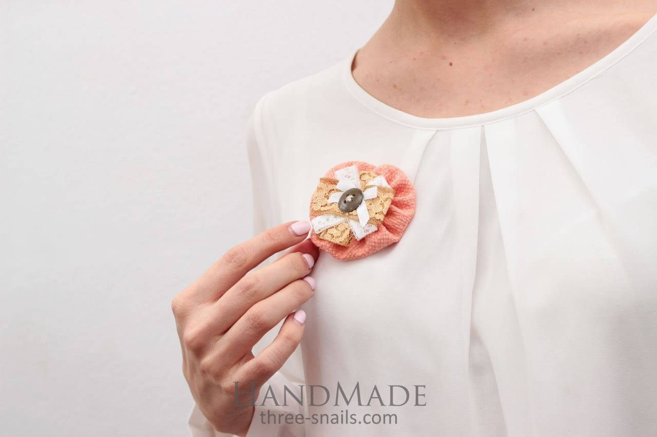 Brooch Peach Fancy - Melnichenko1