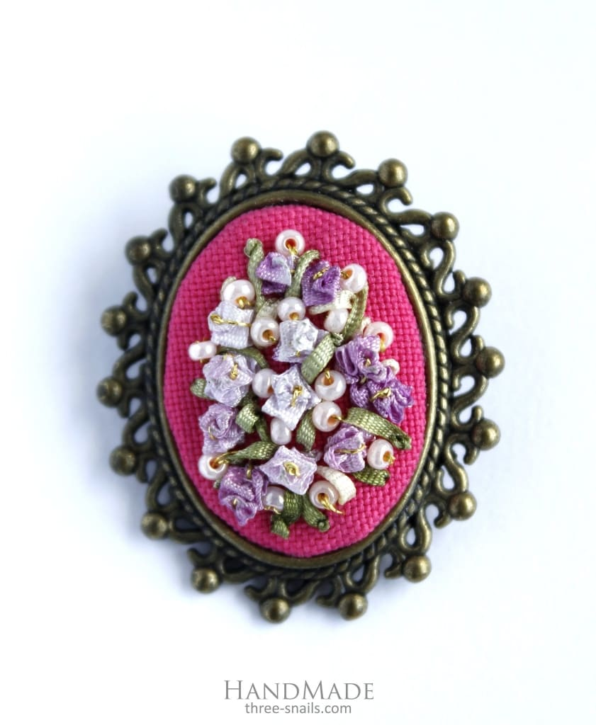 "Brooch ""Pink vibe"" - 1"