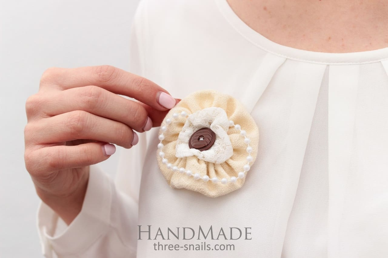Brooches Creamy Tenderness - Melnichenko1