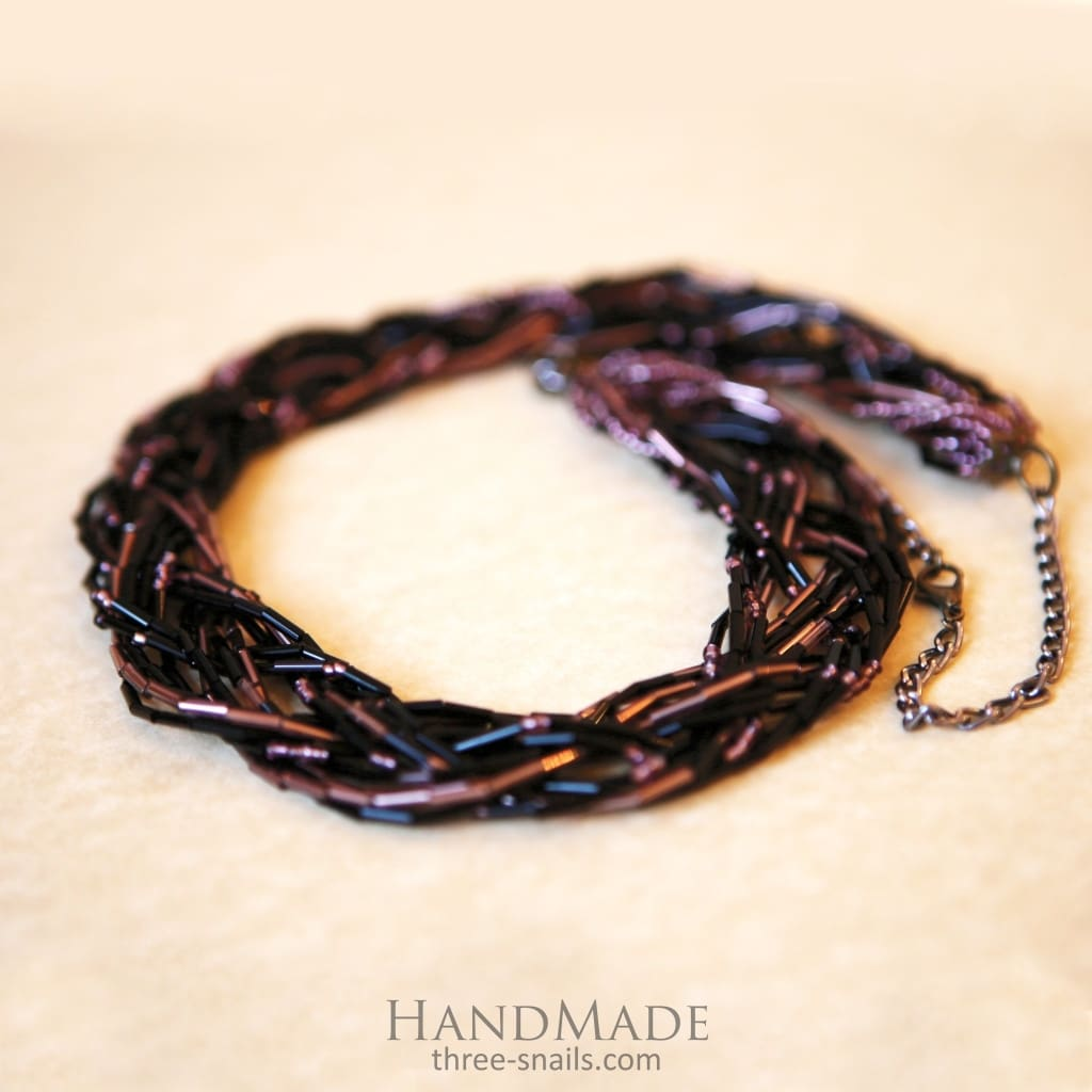 Brown Beads Necklace «Chocolate» - Melnichenko1