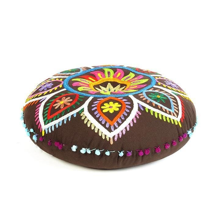 Brown Floor Pillow - Floor Cushion Cover