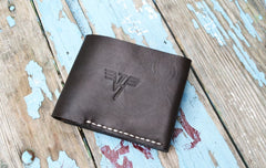 Brown Leather Wallet Choco Cash - Vasylchenko1