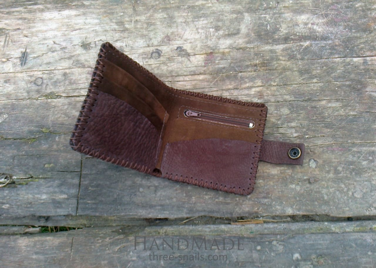 Brown Leather Wallet Watertree - Melnichenko1