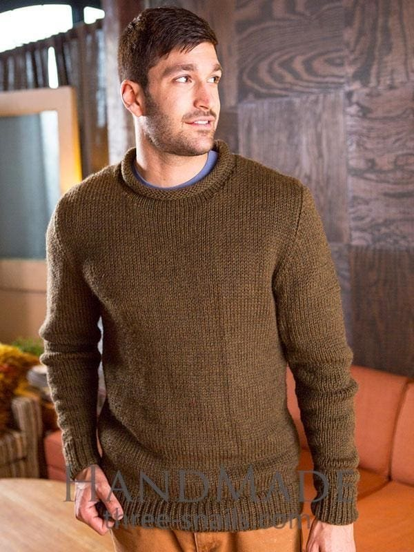 Brown Sweater For Men - Vasylchenko1