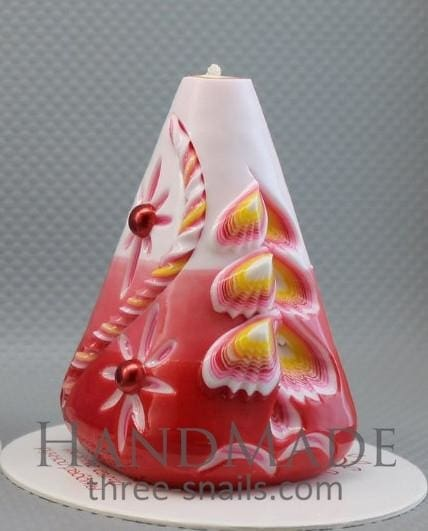 Candle In The Form Of Cone Strawberry Cream - Candle