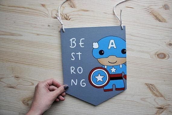 Capitan America Hand Painted Sign - Sign