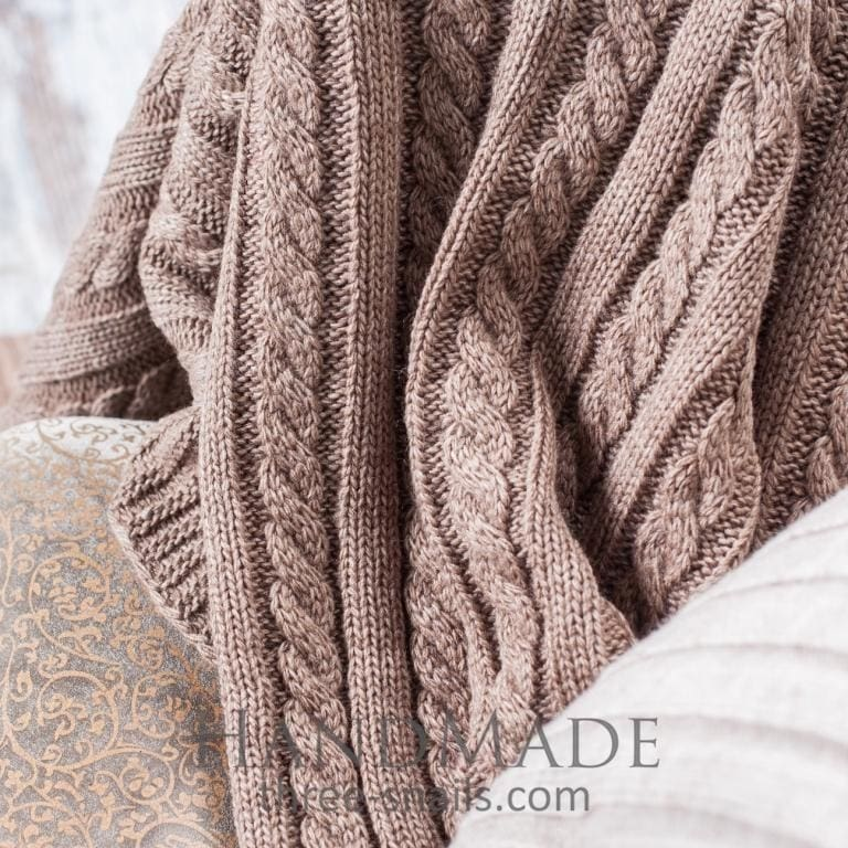 Cappuccino Soft Knit Blanket - Blanket