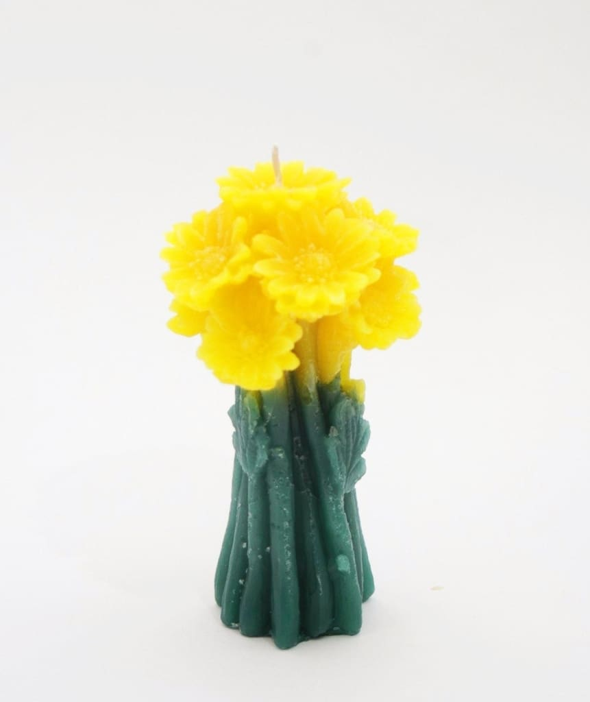 Carved Candle Posy - Yellow / Us - Candle