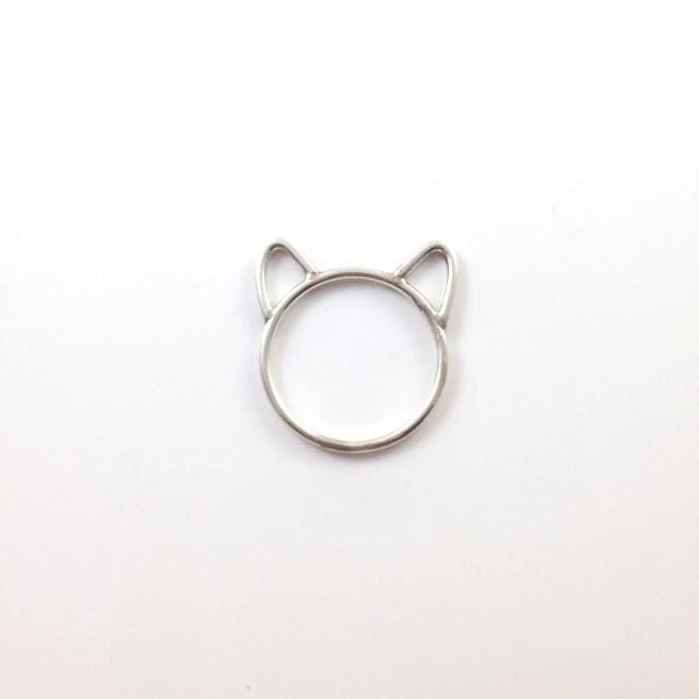 Cat Ears Silver Ring - Ring
