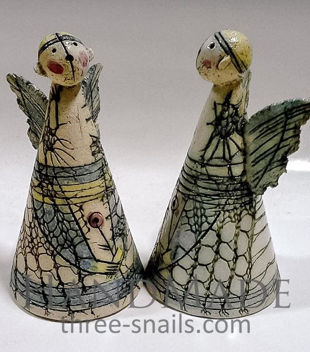 Ceramic Bells Angels - Melnichenko1