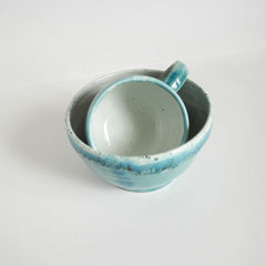 Ceramic Coffee Cup Blue Heavens  - Cup And Mug