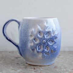 Ceramic Cup Snowflake - Blue / Us - Cup And Mug