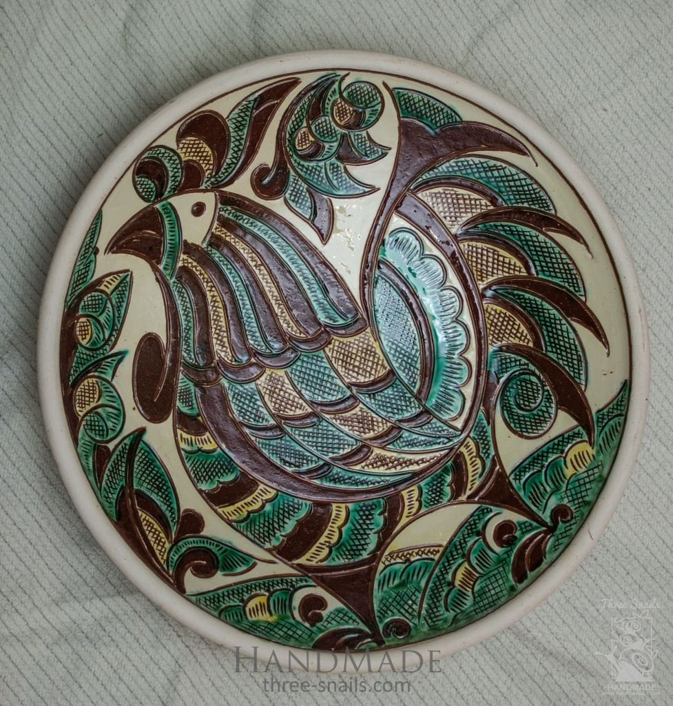 Ceramic Decorative Plate Cockerel - Vasylchenko1