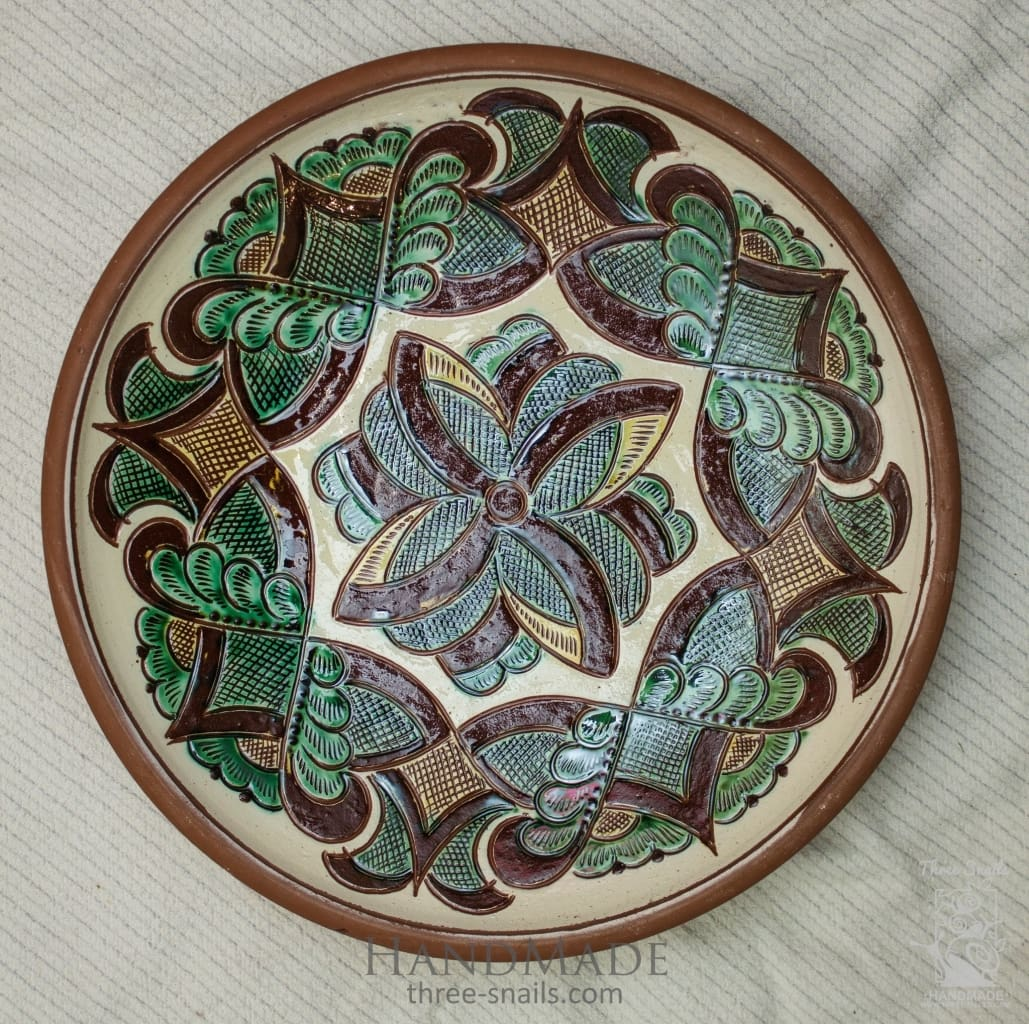 Ceramic Decorative Plate Kolomyia - Vasylchenko1