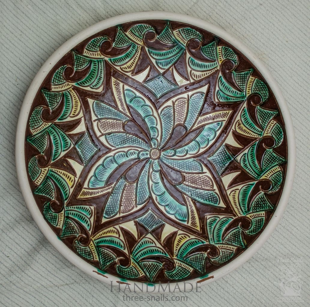 Ceramic Decorative Plate Narcissus - Melnichenko1