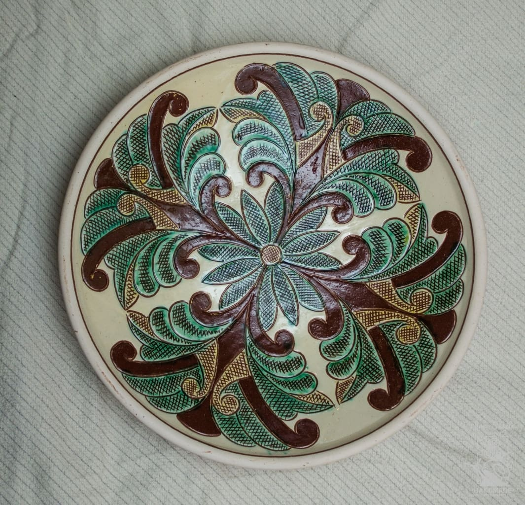 Ceramic Decorative Plate Primrose - Melnichenko1