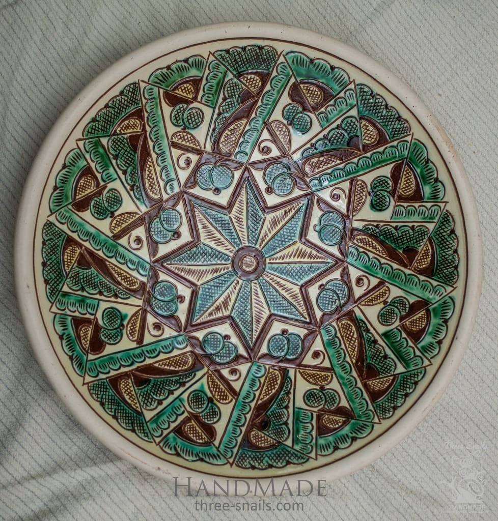Ceramic Decorative Plate Star - Melnichenko1