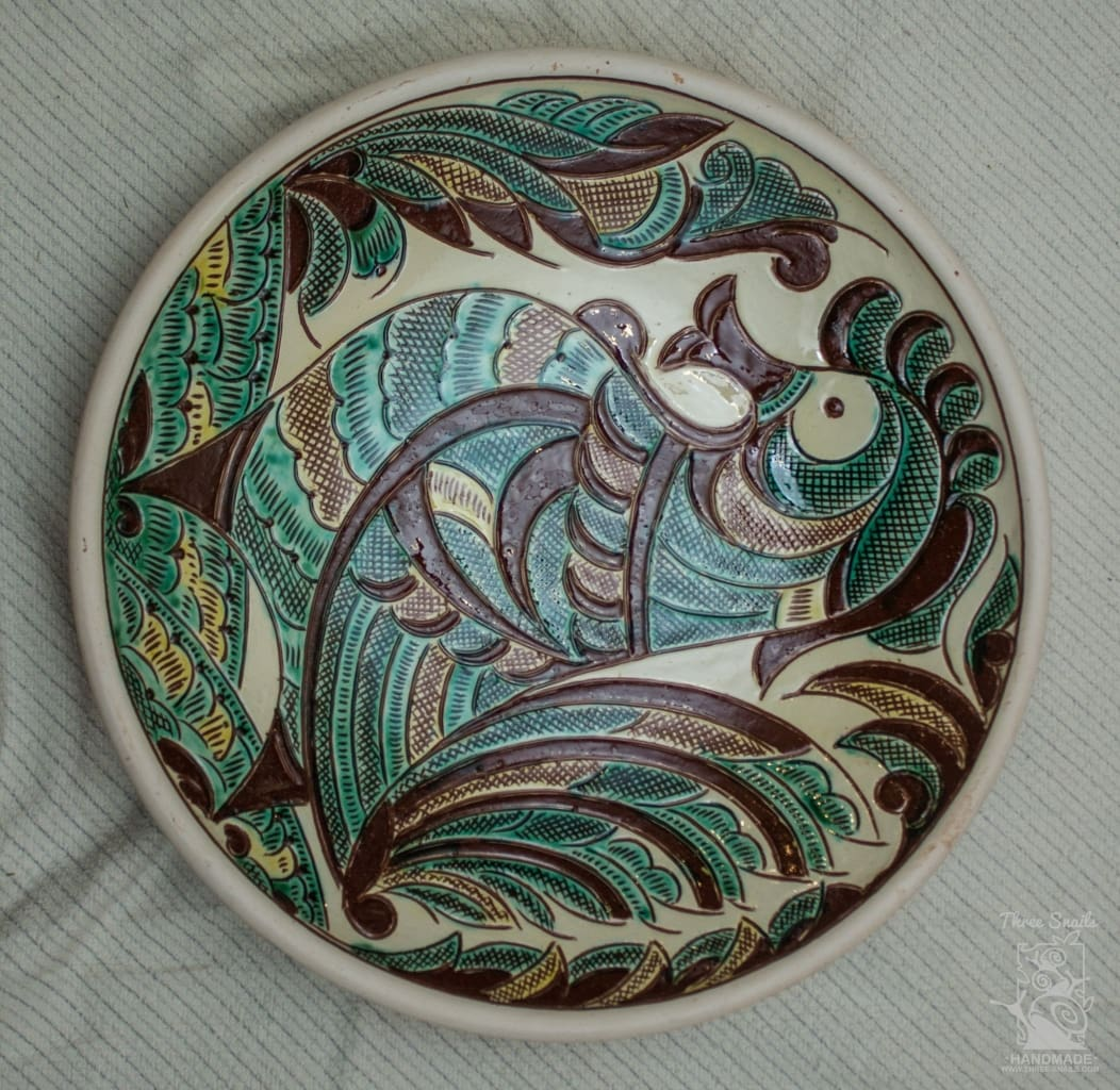 Ceramic Decorative Plate The Humpbacked Horse - Melnichenko1