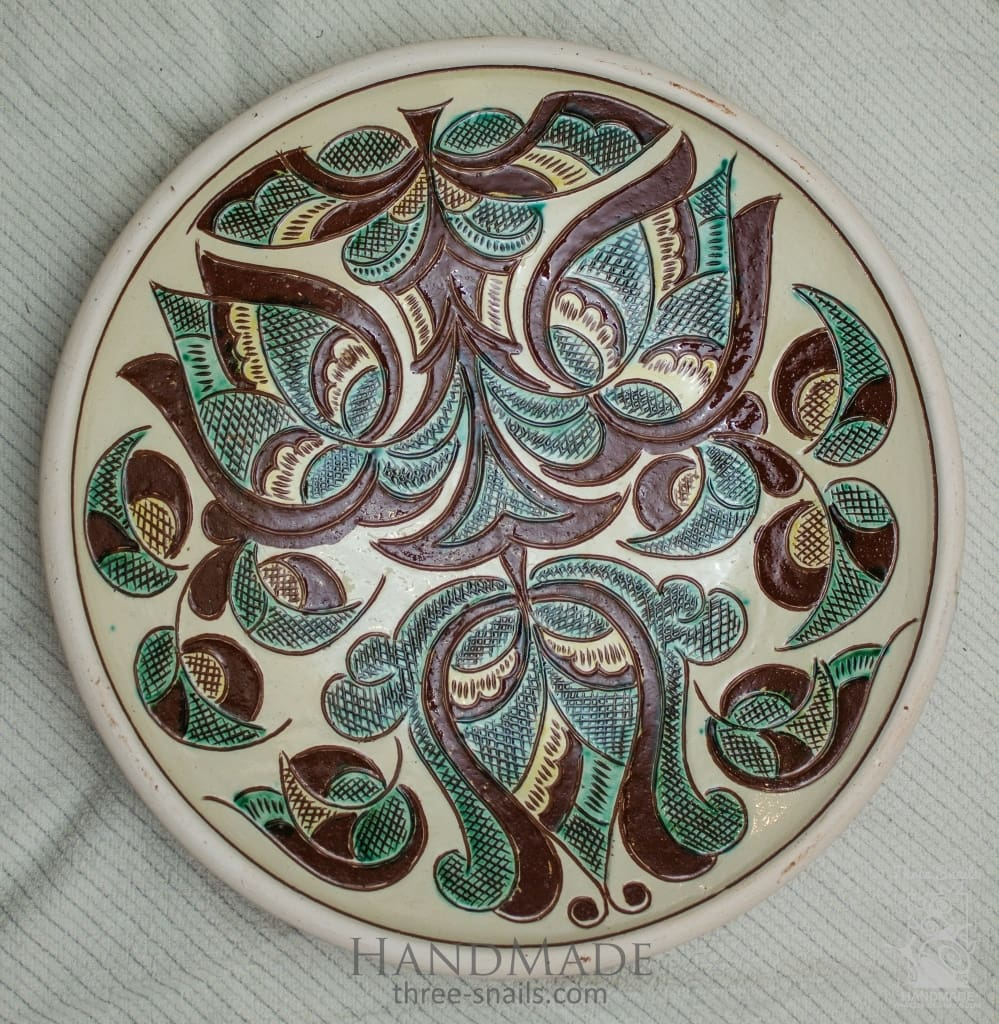 Ceramic Decorative Plate Trypillia - Melnichenko1