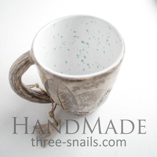 Ceramic Handcrafted Cup Blue Dots - Cup And Mug