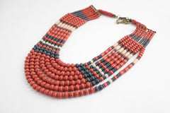 red beaded nacklace