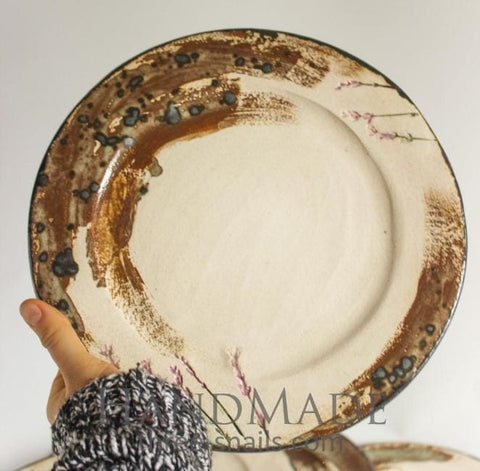 Ceramic Lavender Plate Fields - Plate