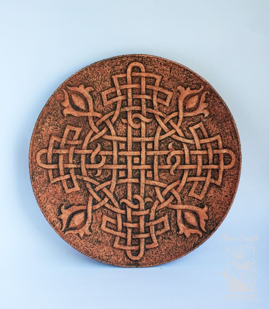 "Ceramic plate ""Celtic knot"" - 1"