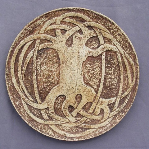 Ceramic Plate Celtic Tree Of Life - Vasylchenko1