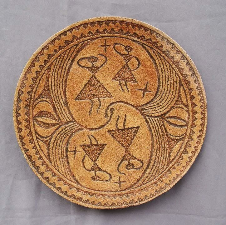 Ceramic Plate Dance Of Goddesses - Melnichenko1