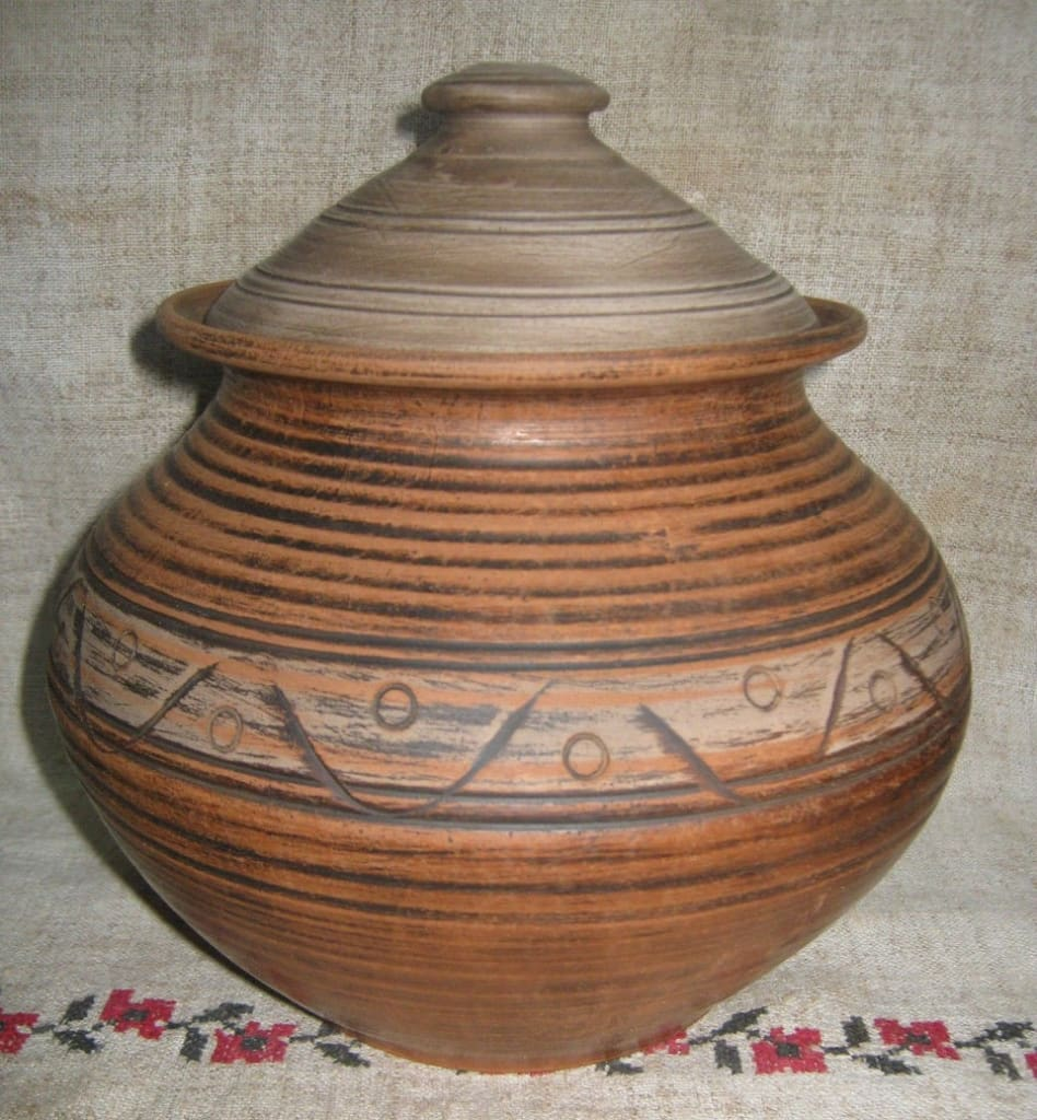 Ceramic Pot For Cooking Red Sunset - Cook Pot