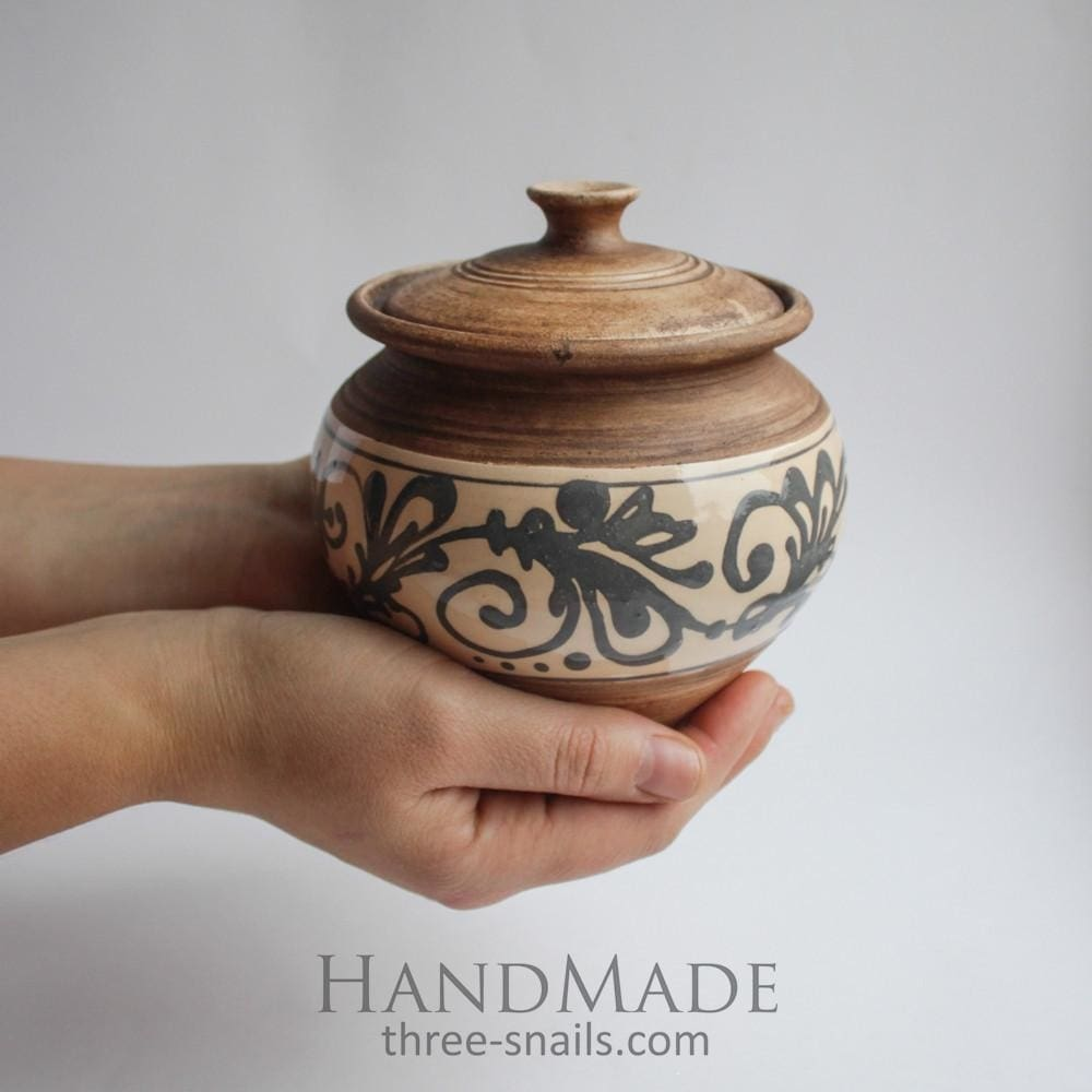 Ceramic Sugar Bowl Rustic - Sugar Bowl