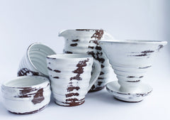 Ceramic Tea Set White Shine - Cup And Mug