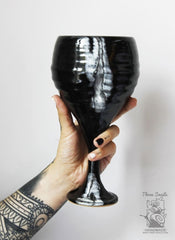 Ceramic Wine Glass The Black Sea - Glass