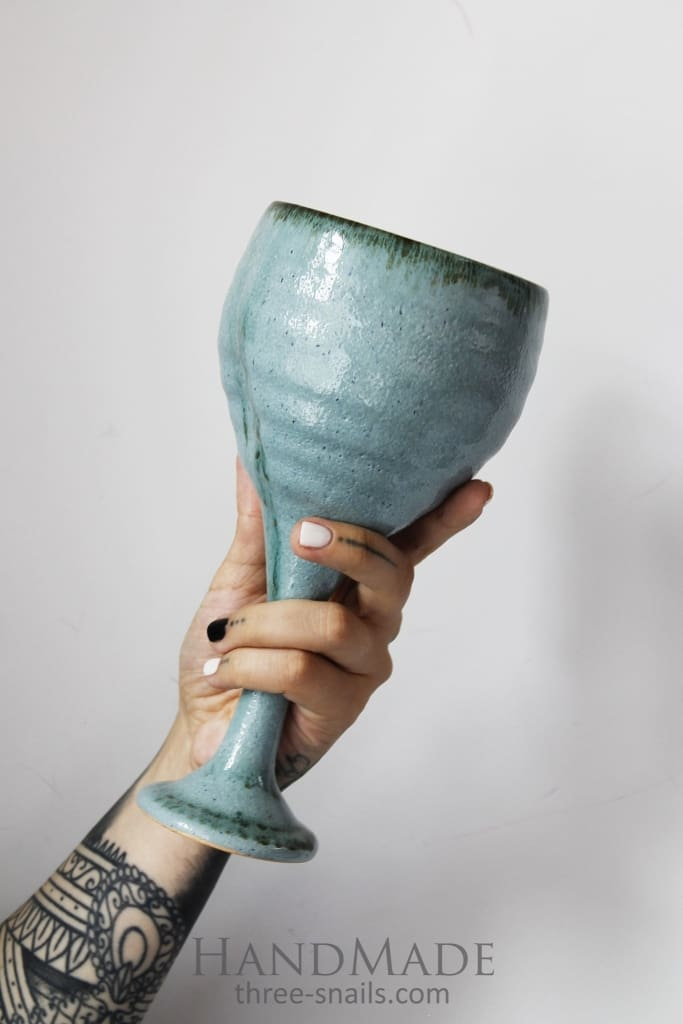 ceramic wineglass