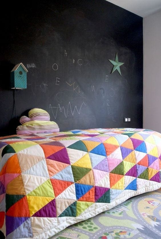 Childrens Patchwork Quilt - Blanket