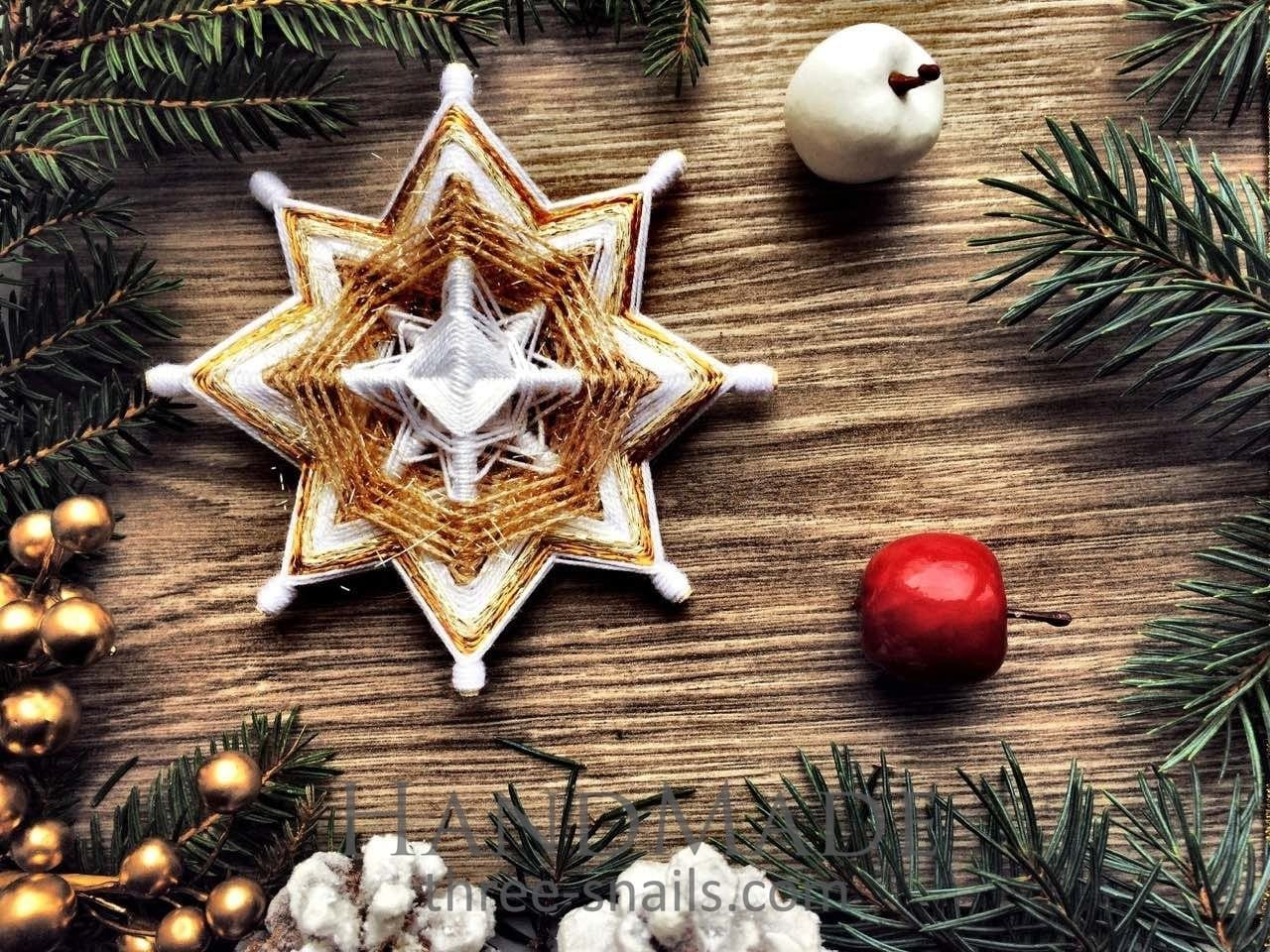 "Christmas decoration ""Golden star"" - 1"